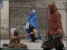 Afghan beggar