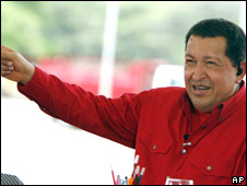 Hugo Chavez during his weekly TV programme