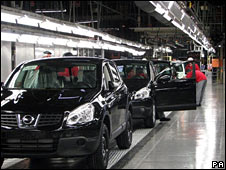 Nissan factory in Sunderland