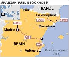 Spanish fuel blockade