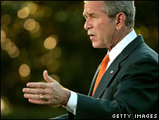 President George W Bush, 9 June