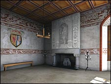 Royal lodgings at Stirling Castle. Pic by Historic Scotland