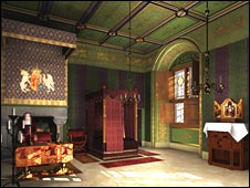 An artists impression of the royal lodgings. Pic by Historic Scotland.
