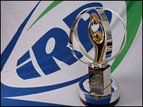 The IRB Junior World Championship trophy