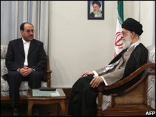 Prime Minister Nouri Maliki and Ayatollah Ali Khamenei