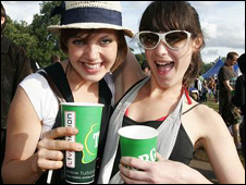Festival goers with Tuborg