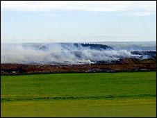 Northumberland peat fire
