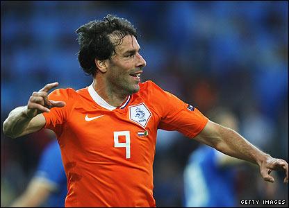 Van Nistelrooy celebrates