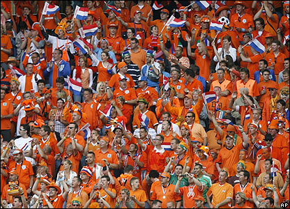 Dutch fans enjoy a night to remember