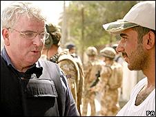 Des Browne in Basra