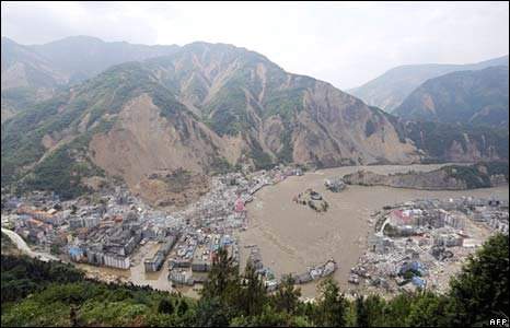 Aerial view of Beichuan