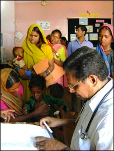 A doctor at a malnutrition centre in Madhya Pradesh