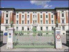Landesklinikum Amstetten-Mauer hospital, where Elisabeth Fritzl and her children are being cared for