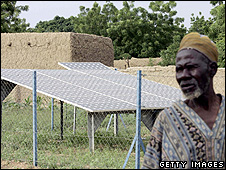 Solar panels in a Niger village (Getty Images)