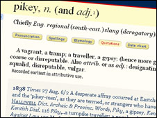 OED definition of 'pikey'