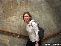 Israeli Foreign Minister Tzipi Livni arrives for talks