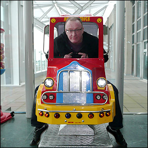 Stuart on the fire engine