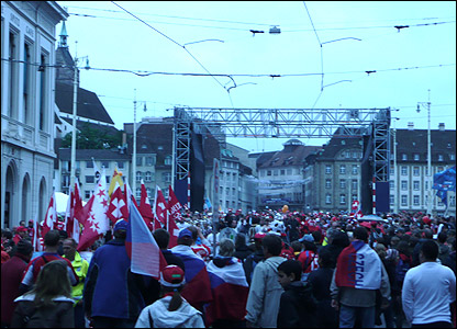 The fanzone in Basel
