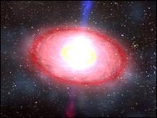 Neutron star collision resulting in gamma-ray burst (Nasa)
