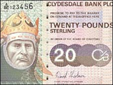 Clydesdale �20 note