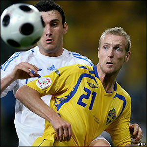 Christian Wilhelmsson has a good chance for Sweden