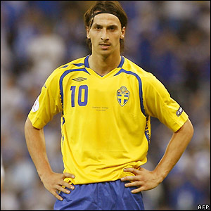 Sweden striker Ibrahimovic