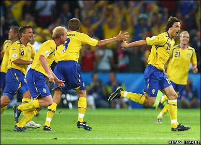 Ibrahimovic celebrates his goal