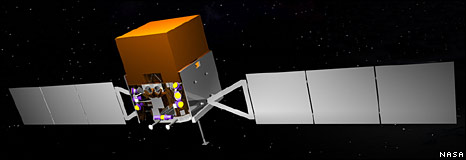 Artist's impression of Glast (Nasa)
