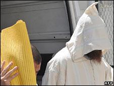 Two members of the Tetouan Cell arrive in court near Rabat in Morocco. Photo: May 2008