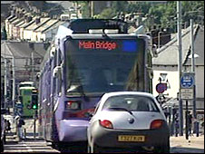 Sheffield tram lane