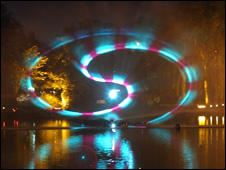Some of the previous laser displays at the illuminations (pic by Walsall Council)
