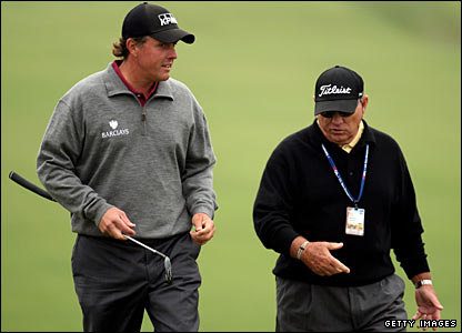 Phil Mickelson and Butch Harmon