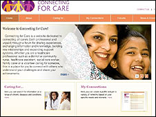 Screenshot of the ConnectingForCare website