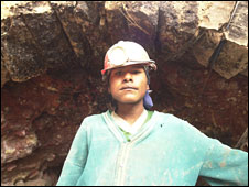 Ramiro, a child miner in Potosi, Bolivia