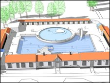 Artist's impression of park lido plan