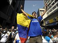 Protestas en el aniversario del cierre de RCTV (28/05/2008).