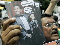 Protestas contra Hugo Chávez en Caracas.