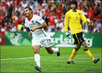 Ronaldo's Ricardo Quaresma celebrates