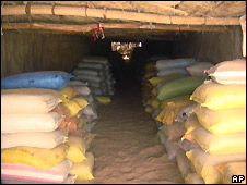 Sacks of hashish found in Kandahar province released by Afghan interior ministry on 11/06/2008