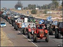 Manifestación agraria en Argentina.