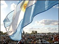 Bandera argentina.