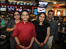 Family of prize winner Sameer Mishra