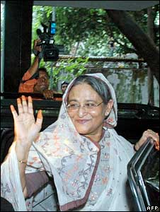 Sheikh Hasina after her release from prison on June 11 2008