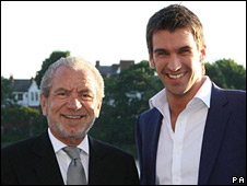 Apprentice winner Lee McQueen (r) with Sir Alan Sugar