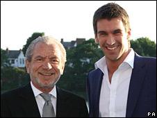 Apprentice winner Lee McQueen (r) with Sir Alan Sugar