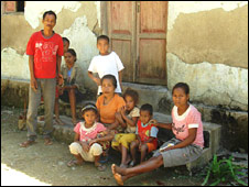 A typical East Timorese family