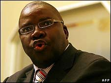 Tendai Biti, secretary general of the Movement for Democratic Change (image from 15 May)