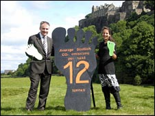 Richard Lochhead with Rachel Nunn at the Kings Knot in Stirling