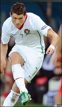 Cristiano Ronaldo en acci�n