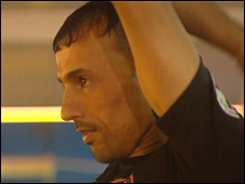 Haider Nawzad training in gym